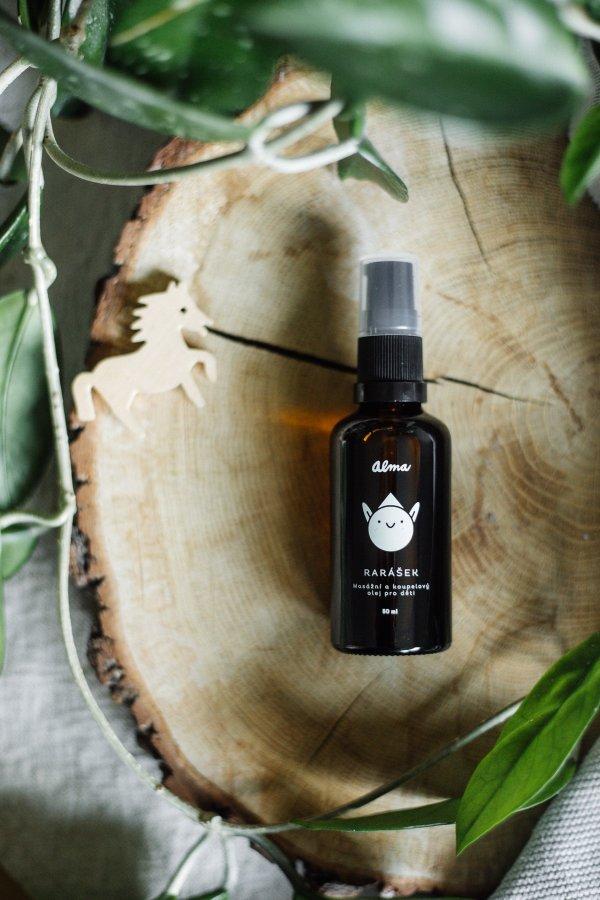 masážny a kúpelový olej pre deti